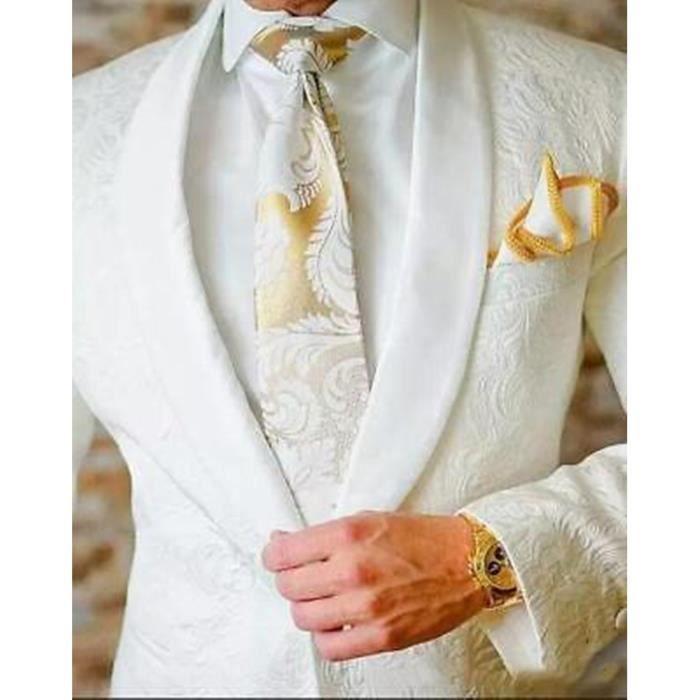 Costume homme mariage blanc - Achat / Vente pas cher