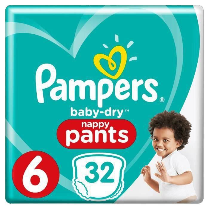 COUCHE Pampers Baby-Dry Pants Taille 6 15+ kg - 32 Couche