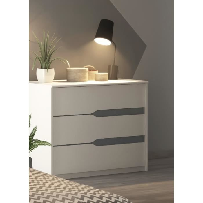 spicy commode de chambre 95 cm blanc achat vente commode de chambre spicy commode de chambre. Black Bedroom Furniture Sets. Home Design Ideas