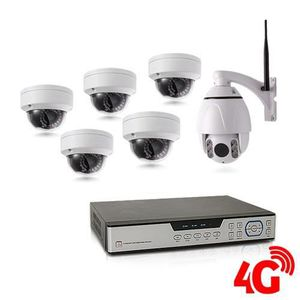 CAMÉRA DE SURVEILLANCE Kit de vidéosurveillance 3G 4G avec enregistreur I