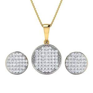 14K Or Jaune Finition Blanc Rond Diamants Tennis Bracelet 1.26 cts