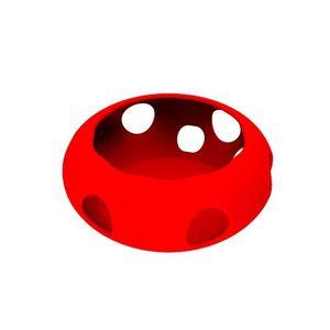 HAUT-PARLEUR - MICRO Etui en silicone pour housse de protection Rouge p