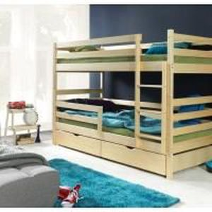 lits superpos s enfant en bois mathilde achat vente lits superpos s cdiscount. Black Bedroom Furniture Sets. Home Design Ideas