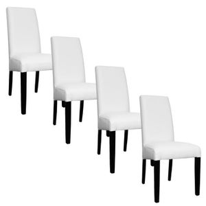 chaise blanche pied noir achat vente chaise blanche. Black Bedroom Furniture Sets. Home Design Ideas