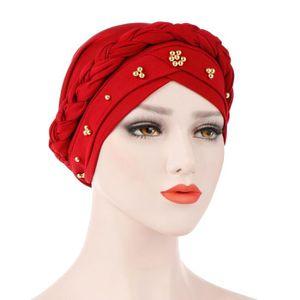 CASQUETTE Foulard Turban Hijab Musulman Femme Bonnet Rouge