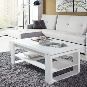TABLE BASSE Table basse blanche relevable - REENA  - Taille :