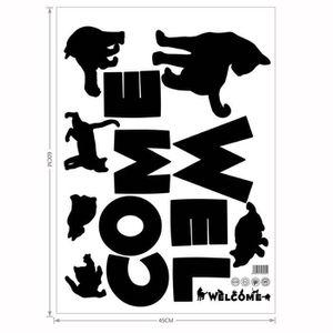 STICKERS Moderne bricolage Stickers muraux bienvenue mots m