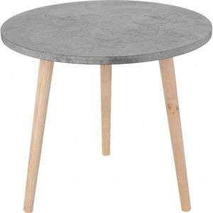 Table basse bois grise achat vente table basse bois - Table ronde grise ...