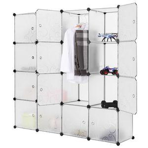 ARMOIRE DE CHAMBRE LANGRIA 16-Cube Armoire de Chambre Placard de Rang