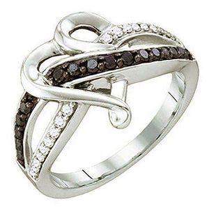 BAGUE - ANNEAU Bague Femme Diamants 0.36 ct  10 ct 471-1000 Or Bl