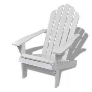 CHAISE Chaise de salon jardin en bois blanche chaise rela