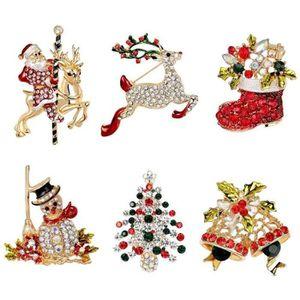 Fashion Silver Deer ELK Broche Manteau Broche Noël Corsage Bijoux