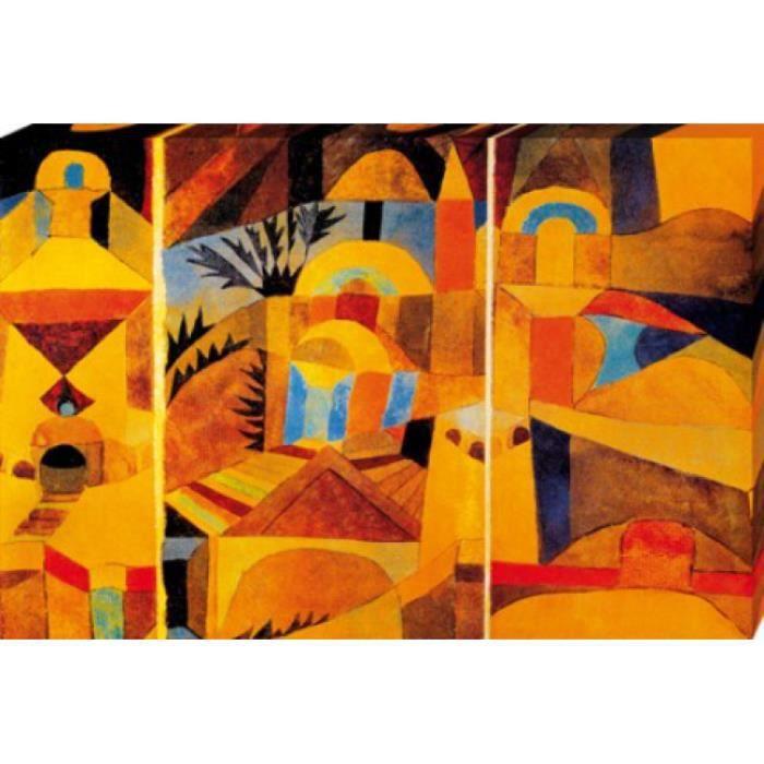 Paul Klee Poster Reproduction Sur Toile Tendue Sur Chassis Le Jardin Du Temple 1920 80 X 120 Cm Achat Vente Tableau Toile Paul Klee Poster Reproducti A Prix Discount 4047253609594 Cdiscount