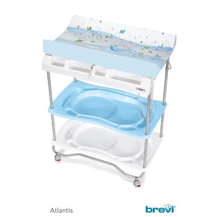 Brevi atlantis table langer baignoire plouf ciel blanc for Table a langer atlantis