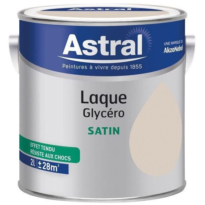 Laque satin 2L lin naturel