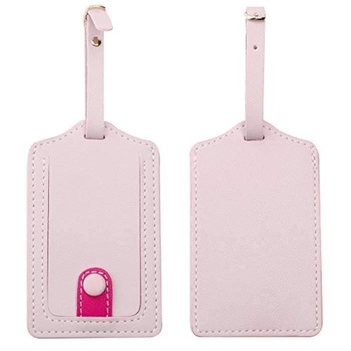 Bracelet De Montre Vendu Seul V1N7Q Étiquettes à bagages en cuir Jagucho pour ensemble de 2 pièces, étiquettes de valise pour étique
