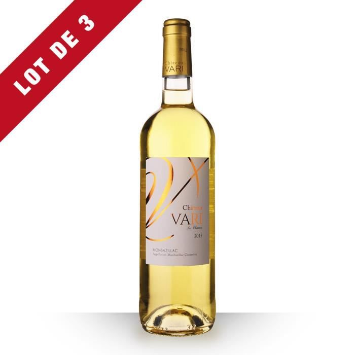 3x Château Vari 2015 AOC Monbazillac - 3x75cl - Vin Blanc