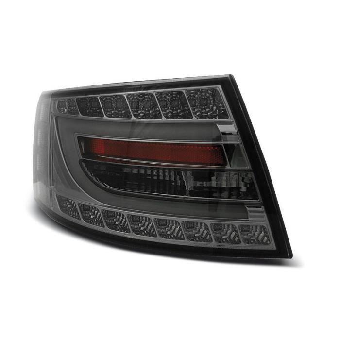 Paire de feux arriere Audi A6 C6 berline 04-08 fume led LTI 7 pins (UC7)