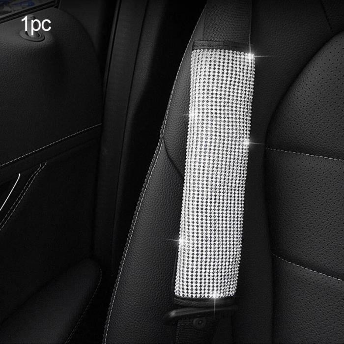 Accessoires de voiture, strass, housse de volant en cuir PU, couvre volant, couvre engrenage automatiq Shoulder cover