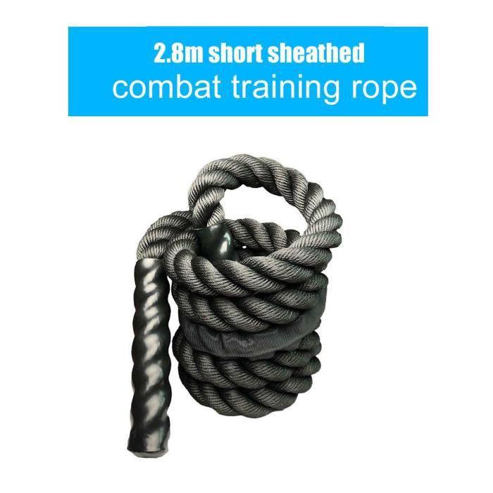 Accessoires Fitness - Musculation,25mm Fitness corde à sauter lourde Crossfits bataille pondérée cordes à - Type 2.8m Black Short