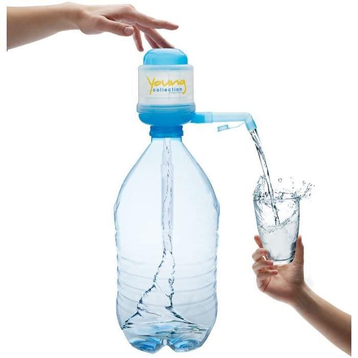 Agua Quick Cristaline Pompe pour Bouteilles De 5 litres - l'original - Young Collection Edition (Bleu) avec adapteur 48/38 mm