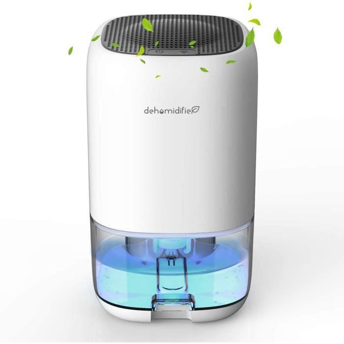 DOUHE Deshumidificateurs d'air, 1000 ml Déshumidificateur Electrique, Silencieux, 7 couleurs LED, Faible Consommation d'énergie, Por