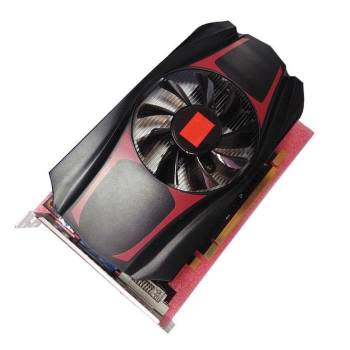 HD7670 4 Go DDR5 128 bits carte graphique de jeu vidéo PCI-Express durable red