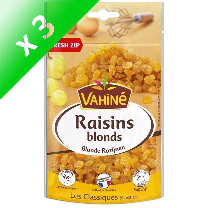 [LOT DE 3] VAHINE Raisins blonds - 125 g