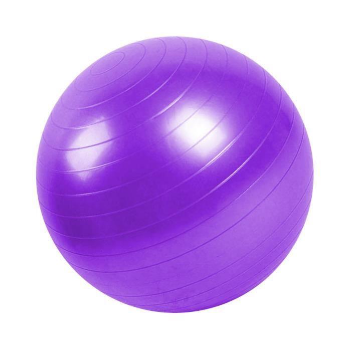 Ballon de gymnastique/ fitness anti-éclatement D. 65 cm en PVC (Violet) - D-Work