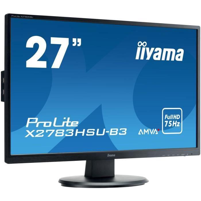 """27"""" 1920x1080 Amva+ 300cd/m² 12mln:1 Acr Haut parleurs Vga Displayport Hdmi Usb Hub 4ms Tco"""
