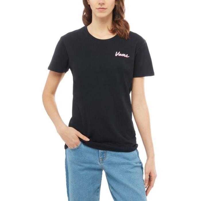 Tee shirt Femme Vans Vintage Checks Noir