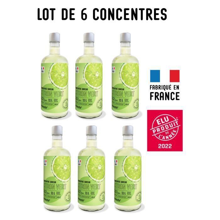 MYSODA - Lot de 6 Concentrés saveur Citron Vert 685ml