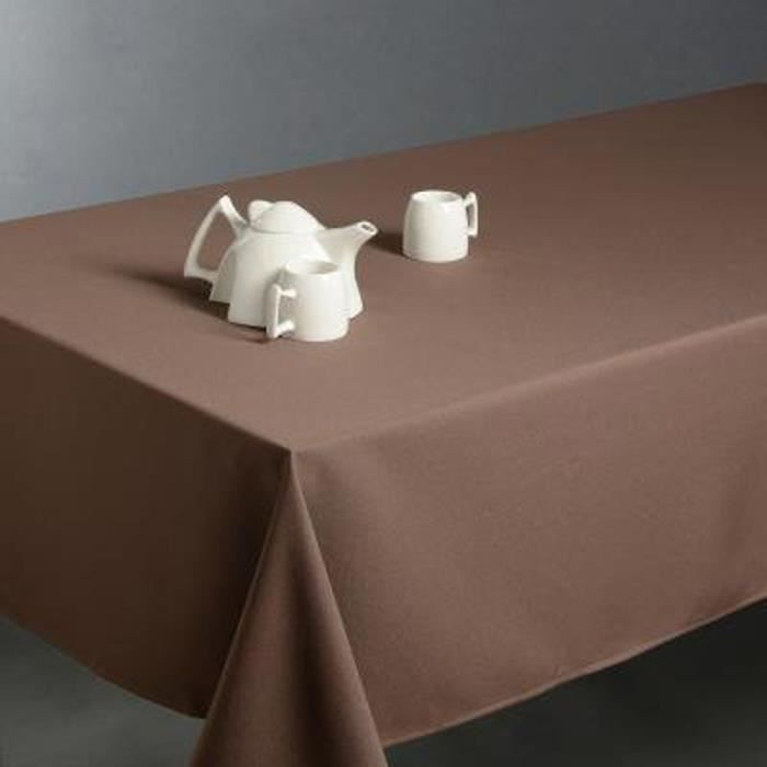 Nappe anti taches rectangulaire taupe, 150 x 300 cm