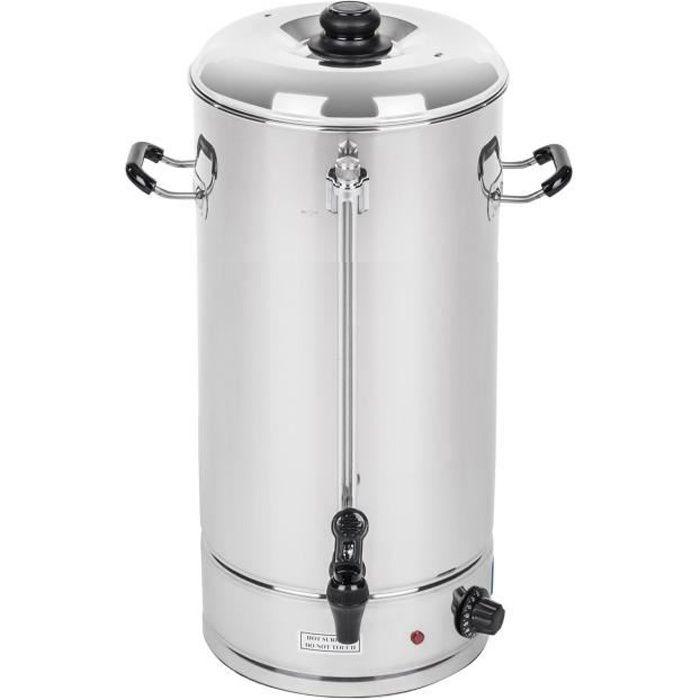 Bouilloire Thermos Distributeur d'eau chaude Royal Catering 20L Environ 119 tasses Max 100dc 338x38x54cm 2500W Inox RCWK-20L