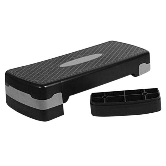 Étape noir gris Fitness aérobic Cardio Yoga Pédale Stepper Gym Workout Exercise Aérobic Équipement VELO D'APPARTEMENT