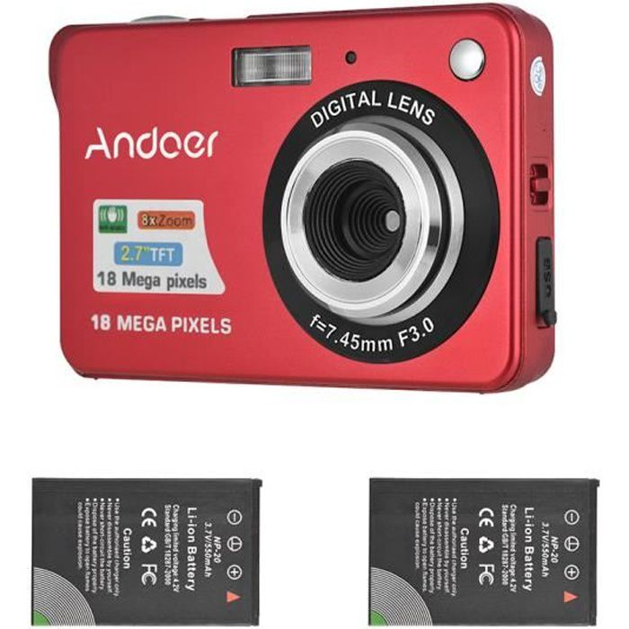 APPAREIL PHOTO COMPACT Andoer 18M 720p HD Appareil Photo Numérique Camésc