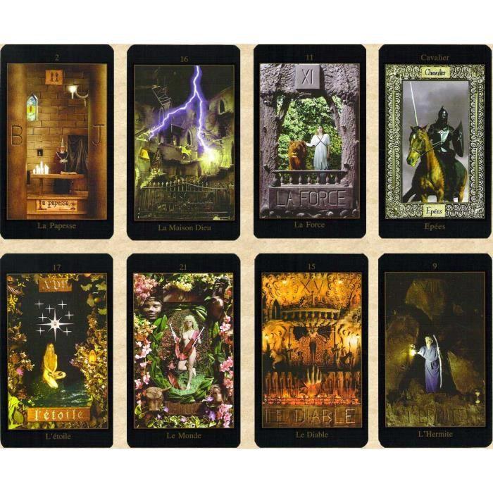Le Tarot Vision Jeu De 78 Cartes Cartes De Voyance Avec Explication Complete Des 78 Lames Livret En Fr Jeu Divinatoire Achat Vente Cartes De Jeu Cdiscount
