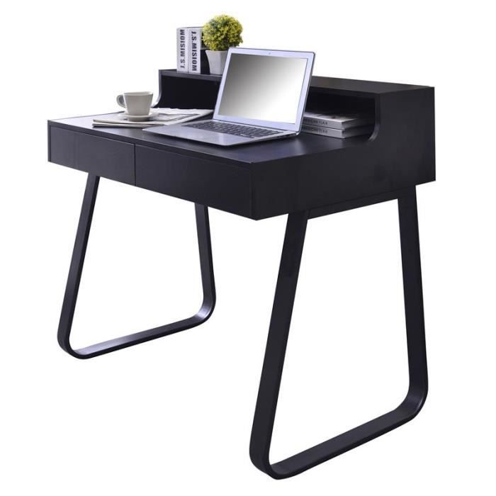 bureau informatique nocima noir achat vente bureau bureau informatique nocima cdiscount. Black Bedroom Furniture Sets. Home Design Ideas