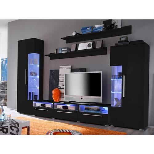ensemble mur tv gonna black gloss achat vente meuble tv ensemble mur tv gonna black soldes. Black Bedroom Furniture Sets. Home Design Ideas