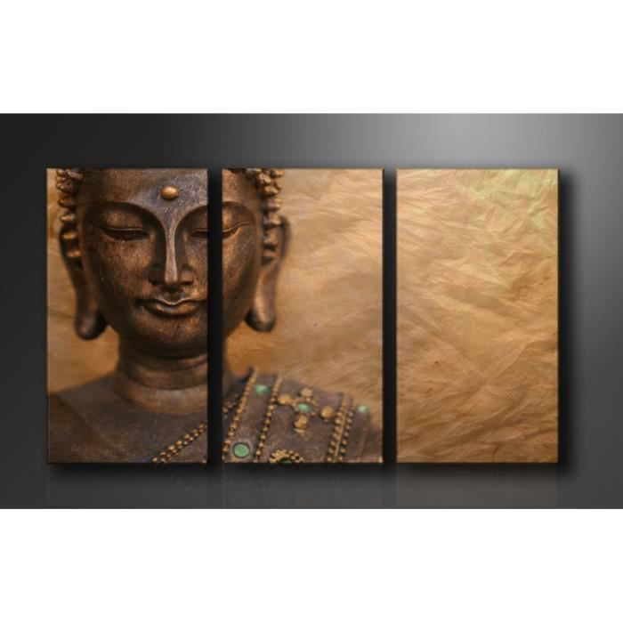 tableau triptyque imprim 160x90 cm bouddha achat. Black Bedroom Furniture Sets. Home Design Ideas