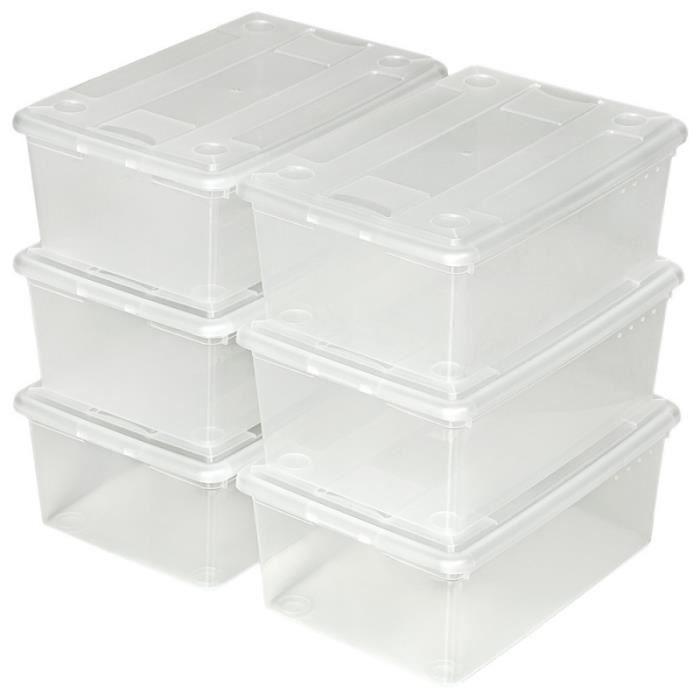 BOITE DE RANGEMENT Lot de 48 boîtes à chaussures rangement pratique t