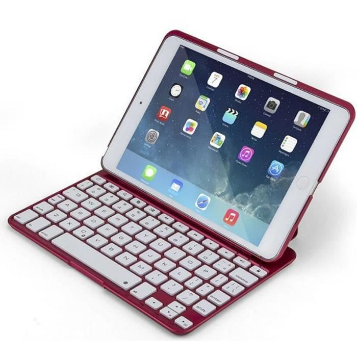 etui bluetooth clavier ipad mini ipad mini2 carmin prix pas cher cdiscount. Black Bedroom Furniture Sets. Home Design Ideas