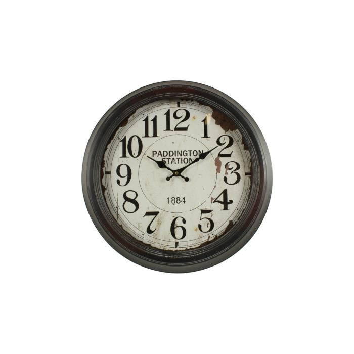 horloge ancienne murale paddington station 47cm achat vente horloge fer cdiscount. Black Bedroom Furniture Sets. Home Design Ideas