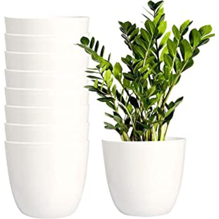 Rotin Style Rond Plastique Plante Pots de Fleurs Plante Intérieur Extérieur Jardin Couleur