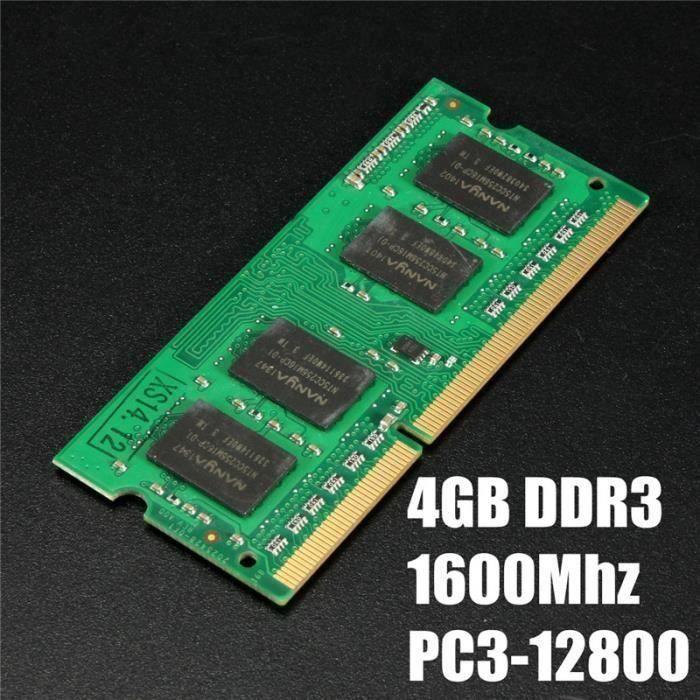 MÉMOIRE RAM 4 GO GB Mémoire RAM DDR3-1600 MHz PC3-12800 Non-EC