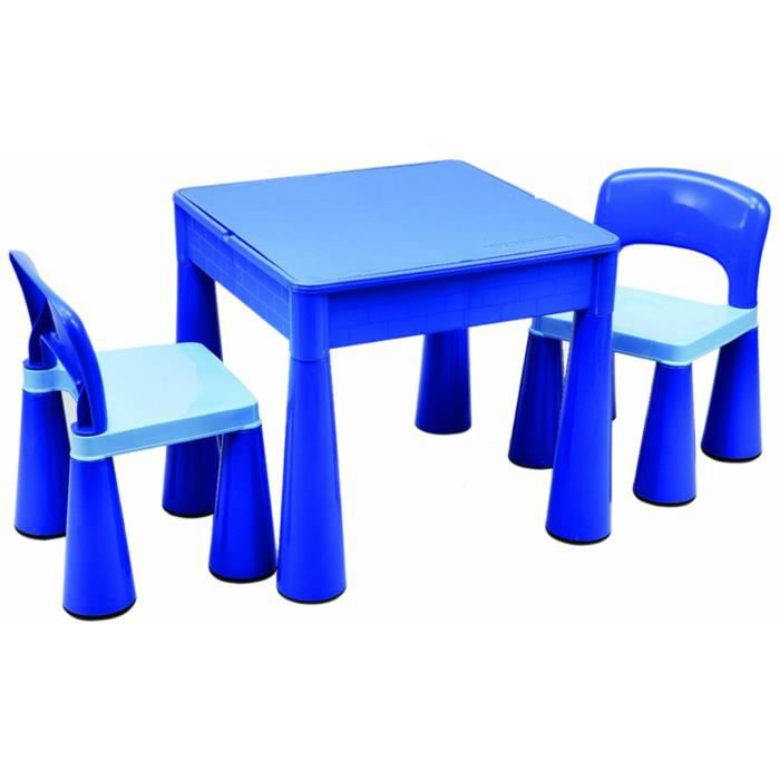 table pour les enfants et 2 chaises bleu dim achat. Black Bedroom Furniture Sets. Home Design Ideas