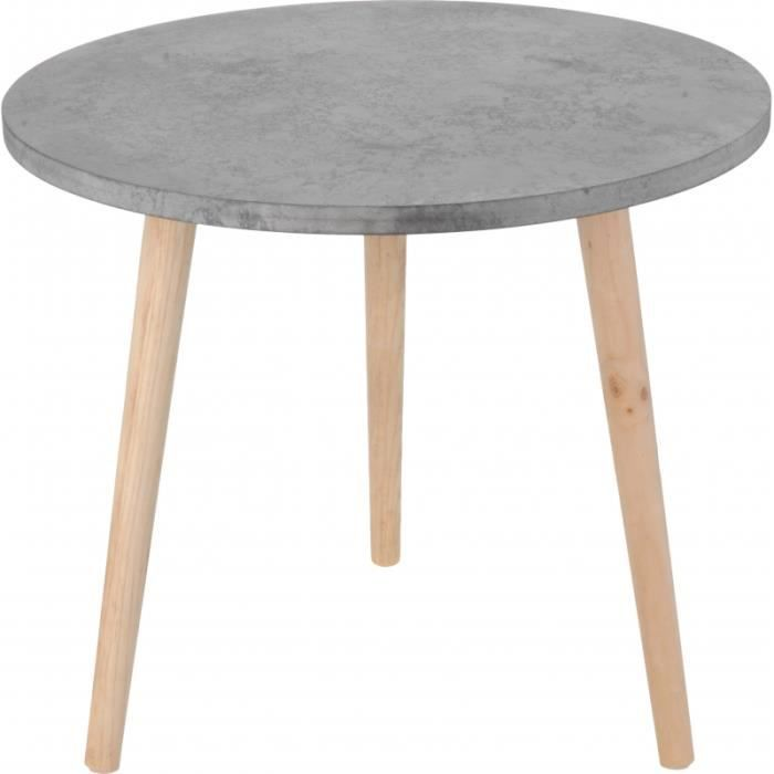 Table basse design ronde en bois wood 70 cm 2 royale for 2 table basse ronde