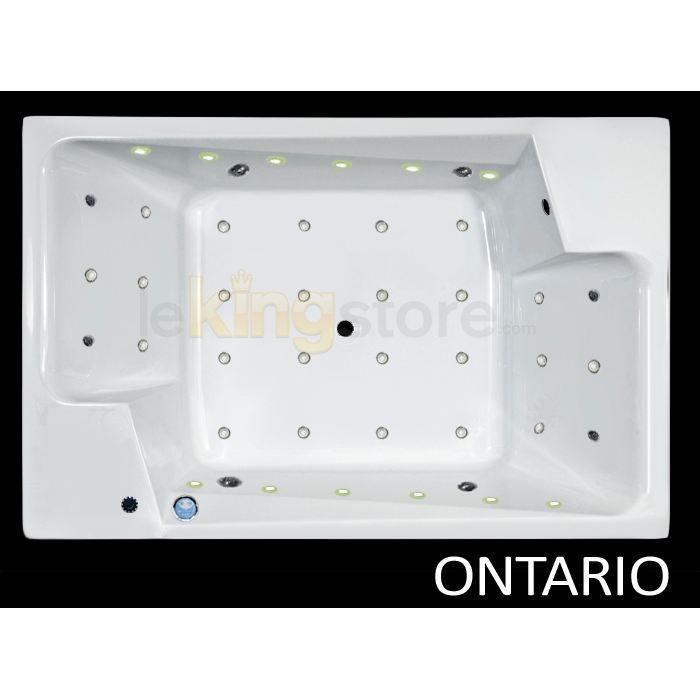 Baignoire Balneo Ontario 190 X 125 Cm 2 Places Achat Vente Baignoire Kit Balneo Baignoire Balneo Ontario 19 Cdiscount