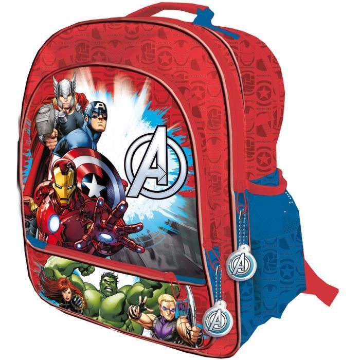 AVENGERS - Grand cartable 4 zips 41 cm adaptable trolley The Avengers Assemble de Marvel