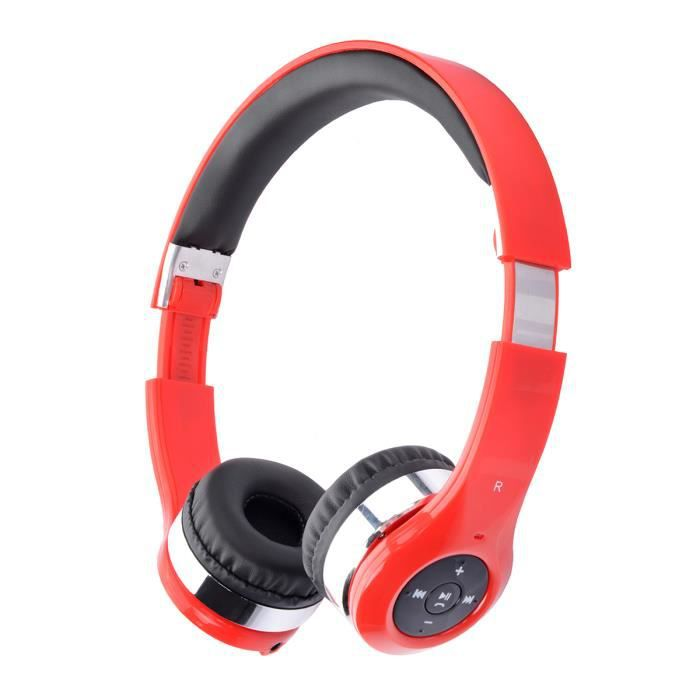 casque bluetooth avec micro rouge casque couteur audio avis et prix pas cher cdiscount. Black Bedroom Furniture Sets. Home Design Ideas